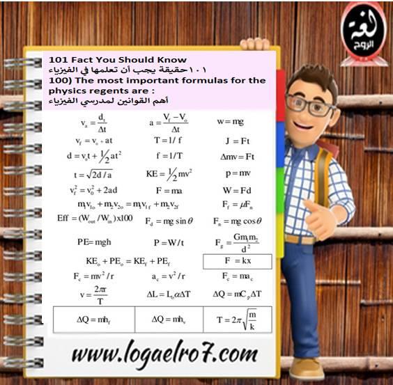 قوانين الفيزياء 100